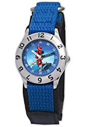 Marvel Kid's MA0103-D2774-BlueVelcro Marvel Super Hero Squad Classic Time Teacher Watch