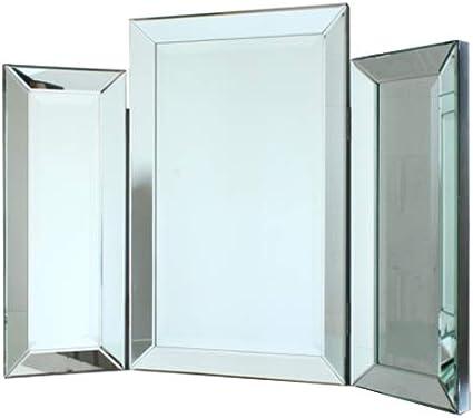 D PRO T tocador espejo moderno biselado espejo veneciano triple ...