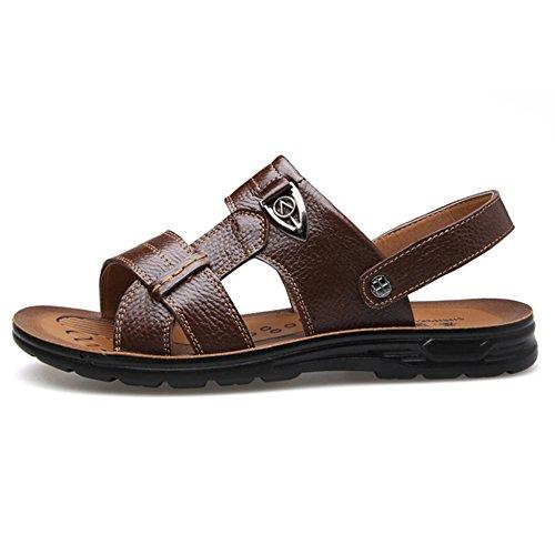 Sandali Estate Vera Toes Pelle In Beach Grandi Maschio Shoes Open Pap Per Pantofole Di Dimensioni qr8vqw1p