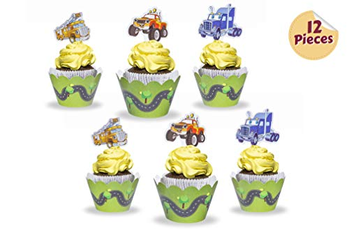 Cupcake Decorations Wrappers Firetruck Birthday product image