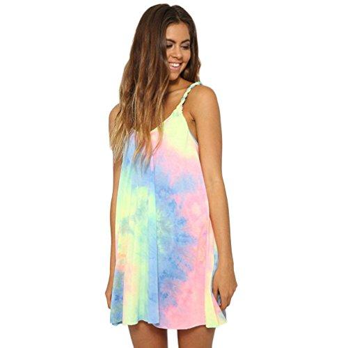 New Franterd Women Beach Dress, O-Neck Sleeveless Backless Skirts Sundress supplier