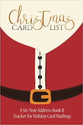 Christmas Card List: A Six-Year Address Book & Tracker for Holiday ...