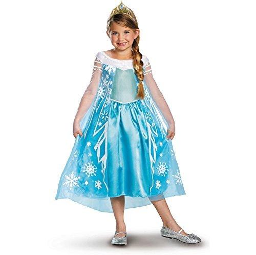 [Disguise Disney's Frozen Elsa Deluxe Girl's Costume, 4-6X] (Halloween Princess Costumes For Kids)