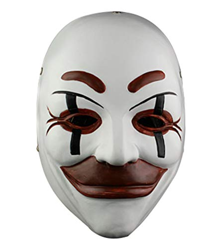 White Replica Mask - Gmasking Who Am I - Kein System Ist Sicher Collectibles Mask 1:1 Replica White