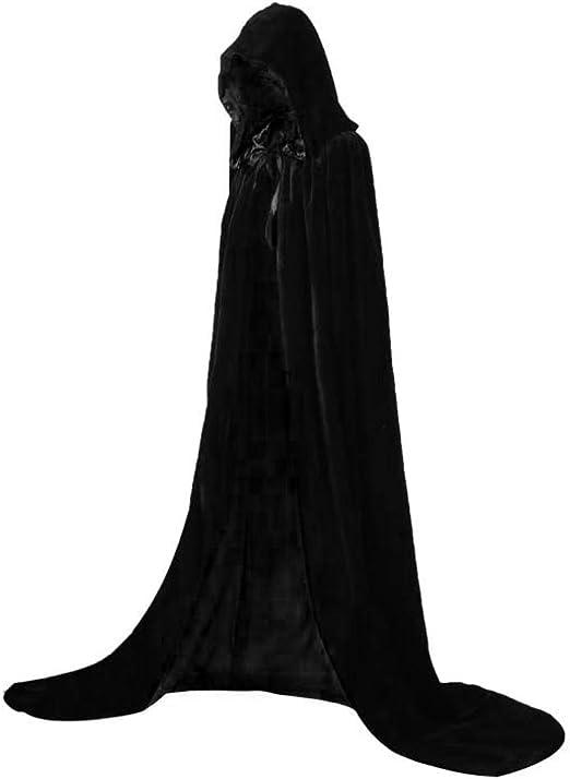Reversible Cloak with Hood Adult Reverse Velvet Hooded Cloak