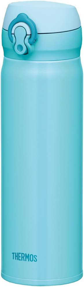 Thermos Stainless Steel Commuter Bottle, Vacuum insulation technology locks,0.5-L,SKY Blue,[one-touch open type] ,JNL-502 SKY