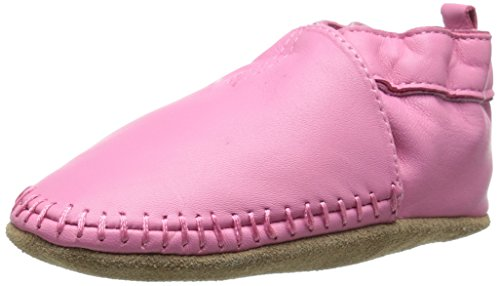 (Robeez Classic Moccasin Crib Shoe (Infant), Pink, 6-12 Months M US Infant)