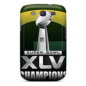 Rugged Skin Case Cover For Galaxy S3- Eco-friendly Packaging(green Bay Packers)