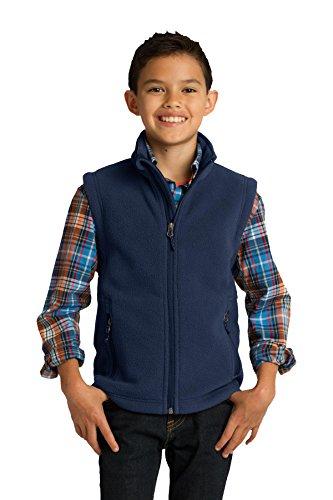 Port Authority Youth Value Fleece Vest. Y219 True Navy M