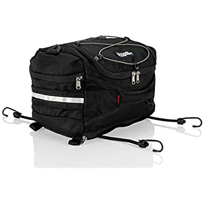 Chase Harper USA 4200 Hideaway Tail Trunk - Water-Resistant, Tear-Resistant, Industrial Grade Ballistic Nylon - Universal Fit Adjustable Bungee Mounting System - Black: Automotive