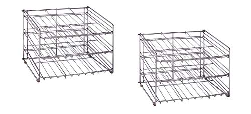 2 Pack - Chrome Wire Can Storage Rack - (15.87 in. x 18 in. x 12.75 in.) Slanted 3 Tier Design, Perfect Storage For Any Kitchen by Neu Home