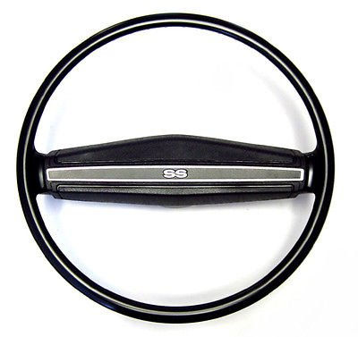 The Parts Place Chevrolet 2 Spoke Steering Wheel With Center Shroud & SS Emblem