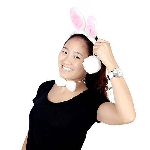 Wholesale Dropship Costumes Jewelry - EverTrust(TM) Halloween Plush Fluffy Rabbit Ears