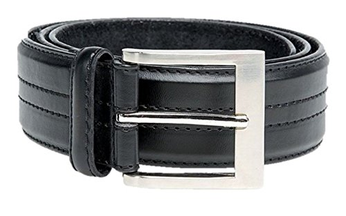 big mens long black leather belt kingsize large 60 waist KS-515