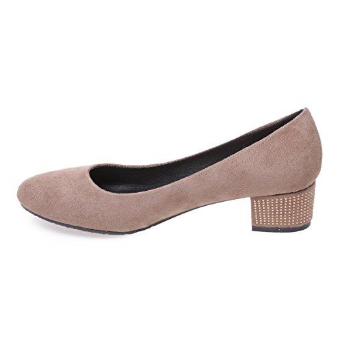 Zapatos cremallera marrones con La para mujer Modeuse HZZq4fxw0