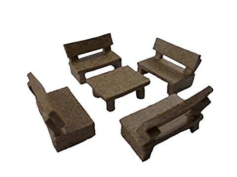 5pc Miniature Chairs Small Table Set Miniatures Furniture Dollhouse Doll Lot wholesale chairs - River Rock Centerpieces