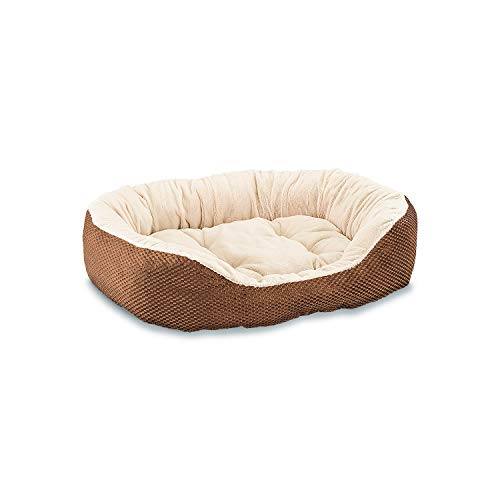 Cheap Ethical Pets Sleep Zone Checkerboard Napper Pet Bed, 31″, Chocolate