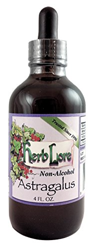 Herb Lore Organic Astragalus Root Extract Liquid Tincture - 4 Ounces - Alcohol Free Immune System Support For Kids and Adults (Astragalus Herbal Extract Liquid)