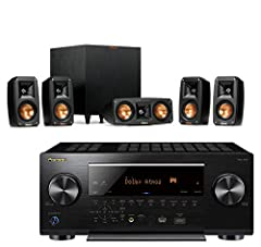 Klipsch Reference Theater Pack   5.1 Surround SystemWe've taken the premium materials and acoustic technology of our revered Reference series and designed a beautiful 5.1 surround sound system to pair with your favorite AV receiver. Complete ...