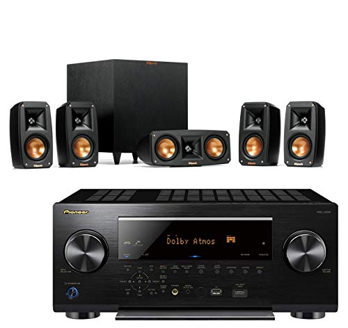 Klipsch Reference Theater Pack 5.1 Surround Sound System Bundle with Pioneer VSX-LX503 7.2-Channel 4k Ultra HD Network A/V Receiver - Black