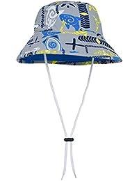 Tuga Boys Reversible Bucket Sun Hat (UPF 50+), Fanatic, Large