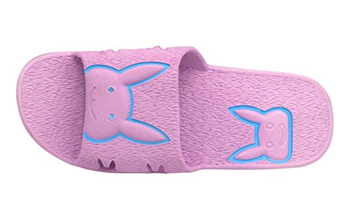 Insun Femmes Pvc Intérieur Bain Pantoufle Glissement Sandales 2 Pack Violet