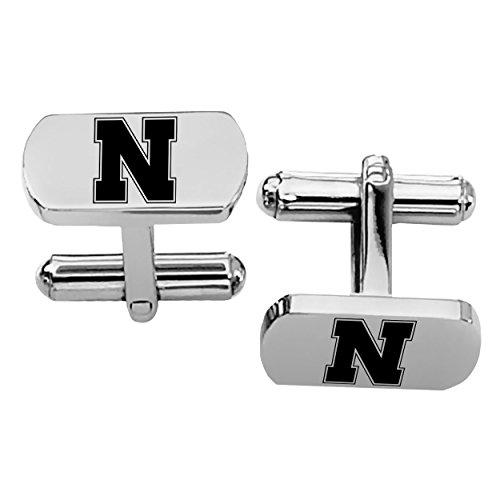Nebraska Cornhuskers Rectangular Shape Stainless Steel Cufflinks