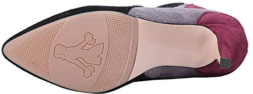 8 Grey Boots ankcia Women 5CM Calaier Zipper Stiletto aFPET