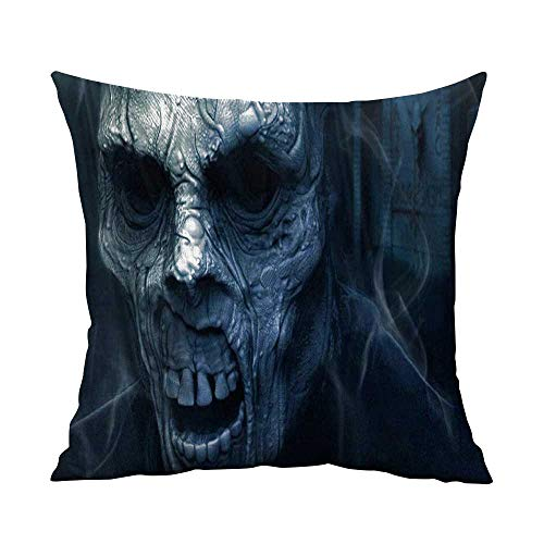 CRICKOOM Nature Throw Pillow Cushion Cover Dark Art Artwork Fantasy Artistic Original Horror Evil Creepy Scary Spooky Halloween Wallpaper HD W13.8 x L13.8,Throw Pillows for Couch Set -