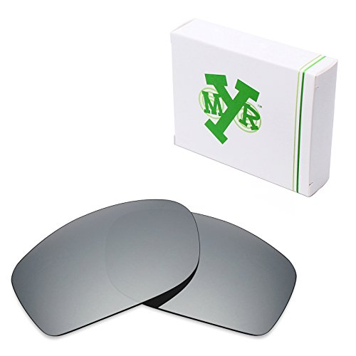 Mryok UV400 Replacement Lenses for Oakley Fives Squared - Silver Titanium by Mryok