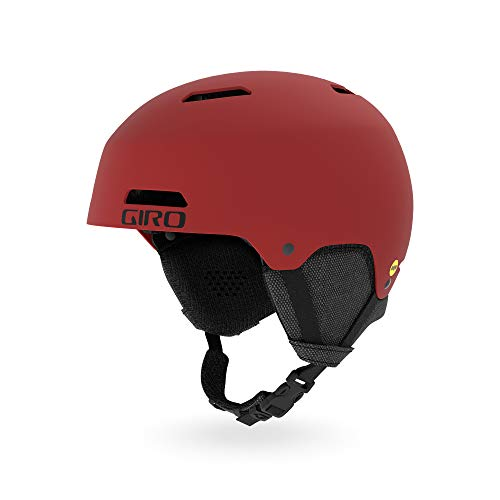 Red Snow Helmets - Giro Ledge MIPS Snow Helmet 2019 - Men's Matte Dark Red Medium