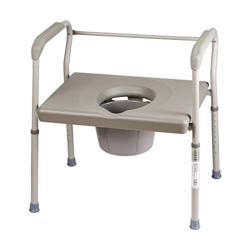 DMI Adjustable Bedside Commode for Adults Can Be Used with Included 7