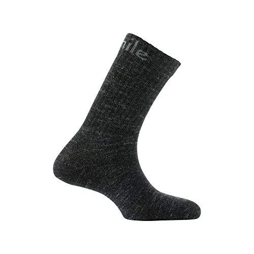 Mi En À Chiné Coton Noir chaussettes Achile Et Laine Côtes pIxdIP