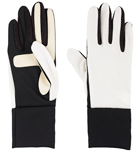 - Isotoner Women's Smartdri Fleece Glove with Smartouch Technology Ivory One Size