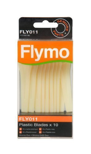 Flymo FLY011 Plastic Lawnmower Blades to Suit Minimo Duo/E400 Duo - (Pack of 10) Husqvarna FL5137851-90/2