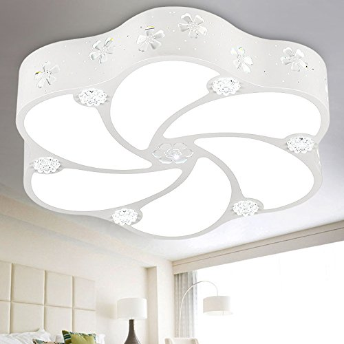 CGHYY Modern Led Ceiling Lamp Flower Petals Warm and Romantic Creativity Chandelier Ceiling Light Lamp Fixture for Bedroom Living Room Hallway Kids Room,51 cm 30W 3-Position Dimmer + Remote Control