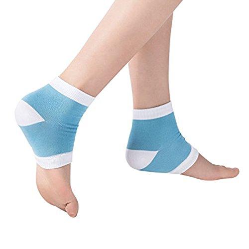 ROSENICE Fersen socken Feuchtigkeitsspendendes gel für Trockene und Rissige Fersen Schuh Socken (Blau)