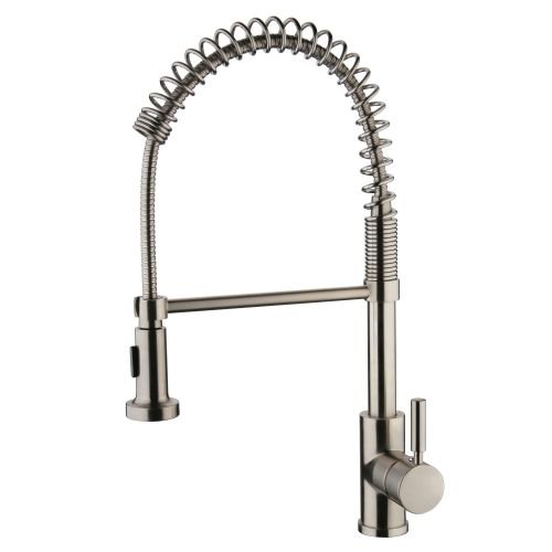 Miseno MK281 Mila Commercial Style Pre-Rinse Kitchen Faucet - Includes Lifetime, Stainless Steel (Miseno Faucet)