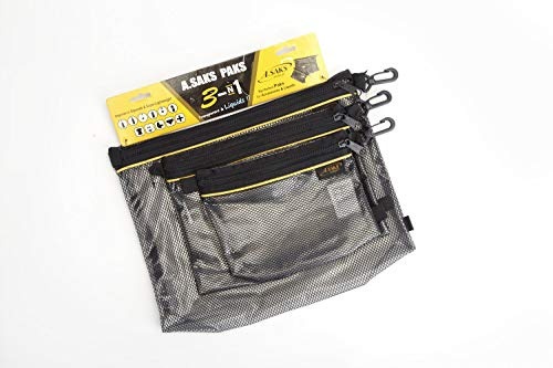 Asaks A.Saks Packing Paks (Set of 3) (Black)