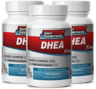 Energy Supplement for Women with Fatigue - DHEA 50MG - Wellness Pills - 3 Bottles (180 Capsules)