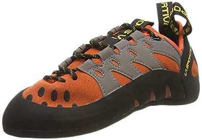 La Sportiva Men's TarantuLace Rock Climbing Shoe, Flame, 39.5