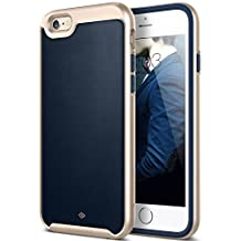 iPhone 6 Plus Case, Caseology® [Envoy Series] Premium Leather Bumper Cover [Leather Navy Blue] [Leather Bound] for Apple iPhone 6 Plus (2014) & iPhone 6S Plus (2015) - Leather Navy Blue