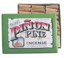 Paines Pinon Pine Incense - 32 Pinon Cones & Holder Paine Products (Paine's)