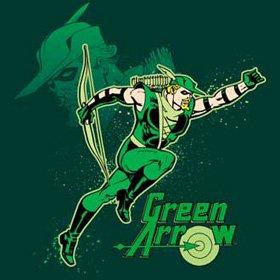 Green Arrow T-shirt - In Action Adult Hunter Green Tee, 3XL