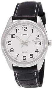 CASIO MTP-1302L-7B - Reloj analógico, para hombre, color blanco y negro