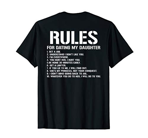 10 Rules For Dating My Daughter Funny Tshirt For Mom Dad