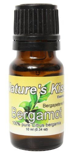Nature's Kiss 100-Percent Pure Extremely Therapeutic Grade Bergamot Essential Oil, 0.34-Ounce