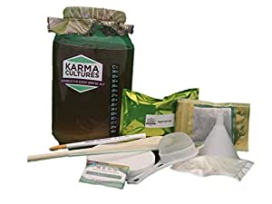 Kombucha Tea Homebrew Starter Kit - COMPLETE With Scoby & Starter Fluid, Jar, Organic Sugar & Tea + More! Everything You Need to Brew Premium & Organic Kombucha Tea In Your Own Home