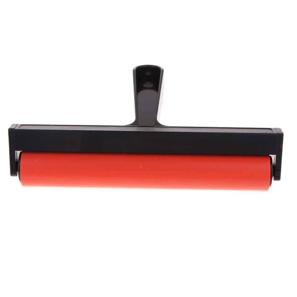 Computer accessories - Premium Rubber Brayer Roller for Printmaking, Wallpaper, Stamping, Anti-Skid Tape Construction Tool, Gluing Application by trang tri