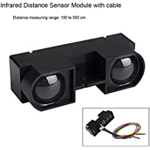 MakerFocus Infrared Distance Sensor Module Include Position Sensitive Detector Infrared Emitting Diode and Signal Processing Circuit Measuring Range 100 to 550CM for Projector/Amusement Equipment